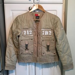 Lexi Military Style Crop Jacket Size Medium